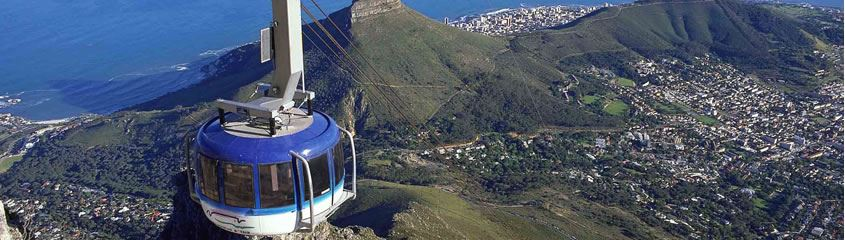 Cape Town Holidays - view from Table Mountain cable car