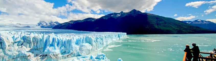 Perito Moreno Glacier with people