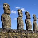Photo Easter Island  Moai Statues Chile Atacama Santiago