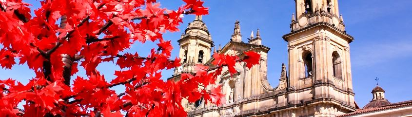 Holidays to Bogota - Cathedral in Bogota in Autumn