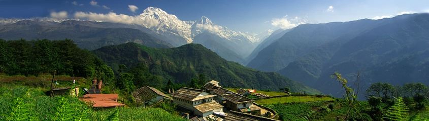 Nepal holidays - holidays in Nepal - breath-taking view of the Annapurna range from Ghandruk